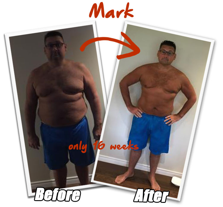 Mark Brown Before and After - realFIT Personal Training and Fitness - Brantford ON