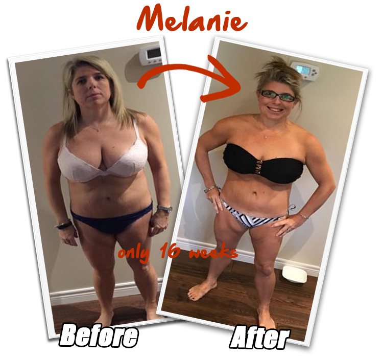Melanie Brown Before and After - realFIT Personal Training and Fitness - Brantford ON
