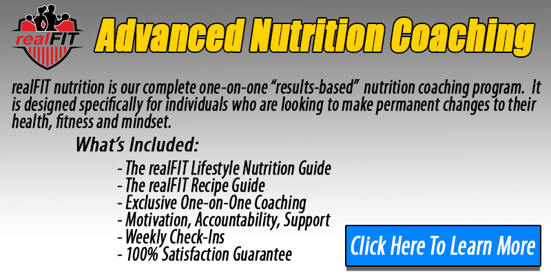 realFIT Lifestyle Nutrition Program Button - realFIT Personal Training and Fitness Brantford, ON