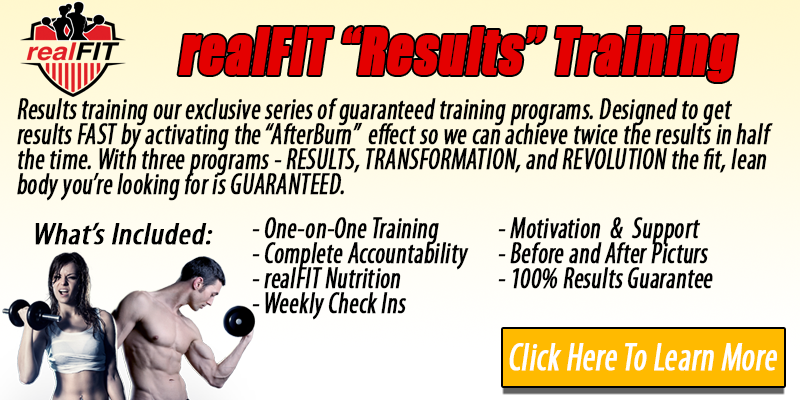 realFIT Results Personal Training  Button - realFIT Personal Training and Fitness Brantford, ON