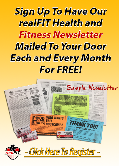 realFIT Training and Fitness Brantford ON Personal Training - Newsletter Image